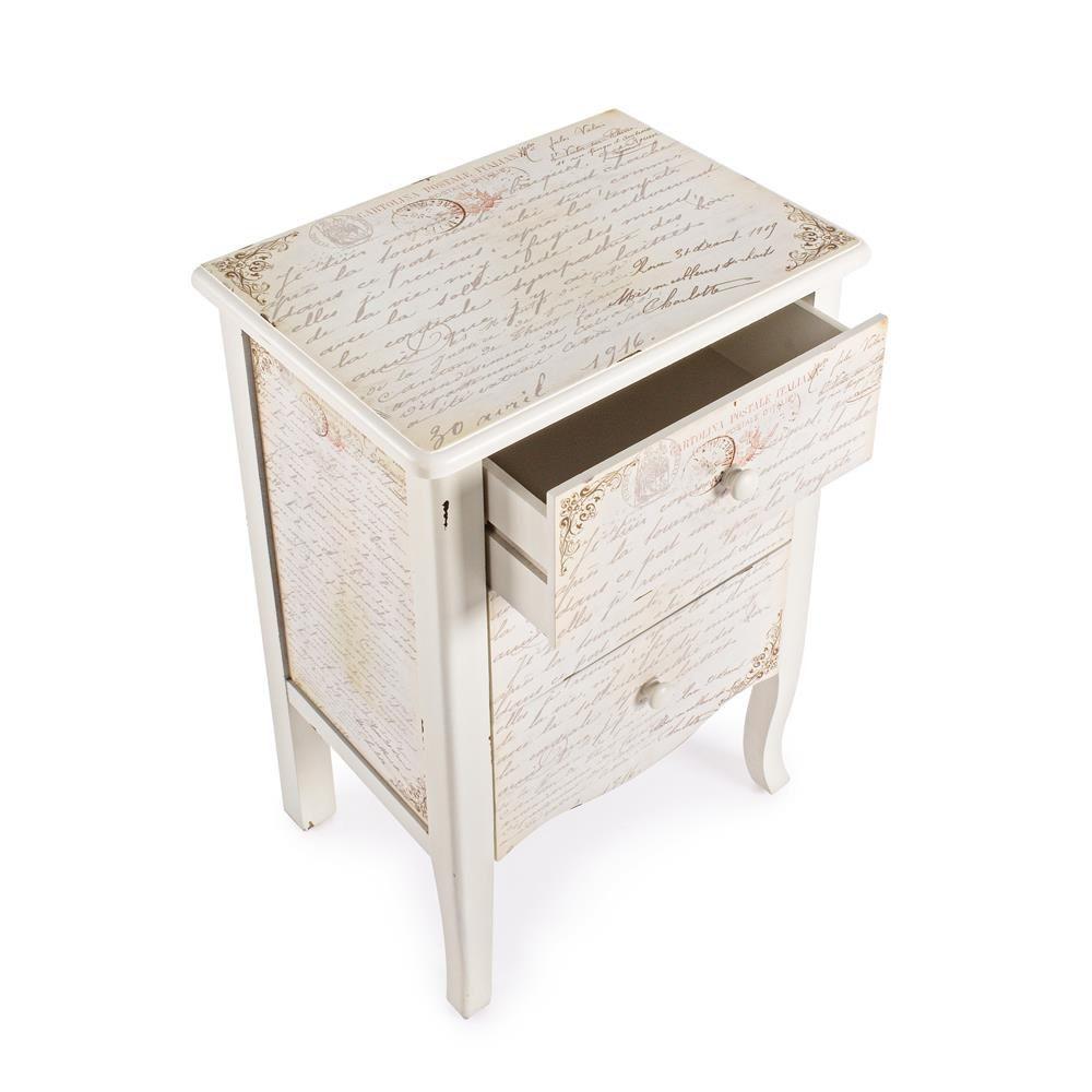 shakespeare side nachttisch aus holz stil shabby chic. Black Bedroom Furniture Sets. Home Design Ideas