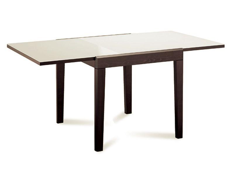 Asso 90 tisch domitalia aus holz mit glasplatte 90x90 cm for Weisser tisch mit dunkler platte