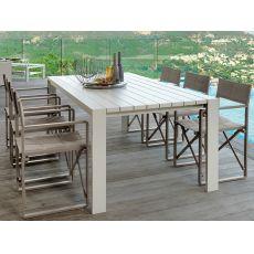 Chic - T2 - Mesa de aluminio para jardín, en varias medidas