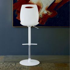 Bip - SS - Colico stool, swivel and adjustable, steel structure and technopolimery seat