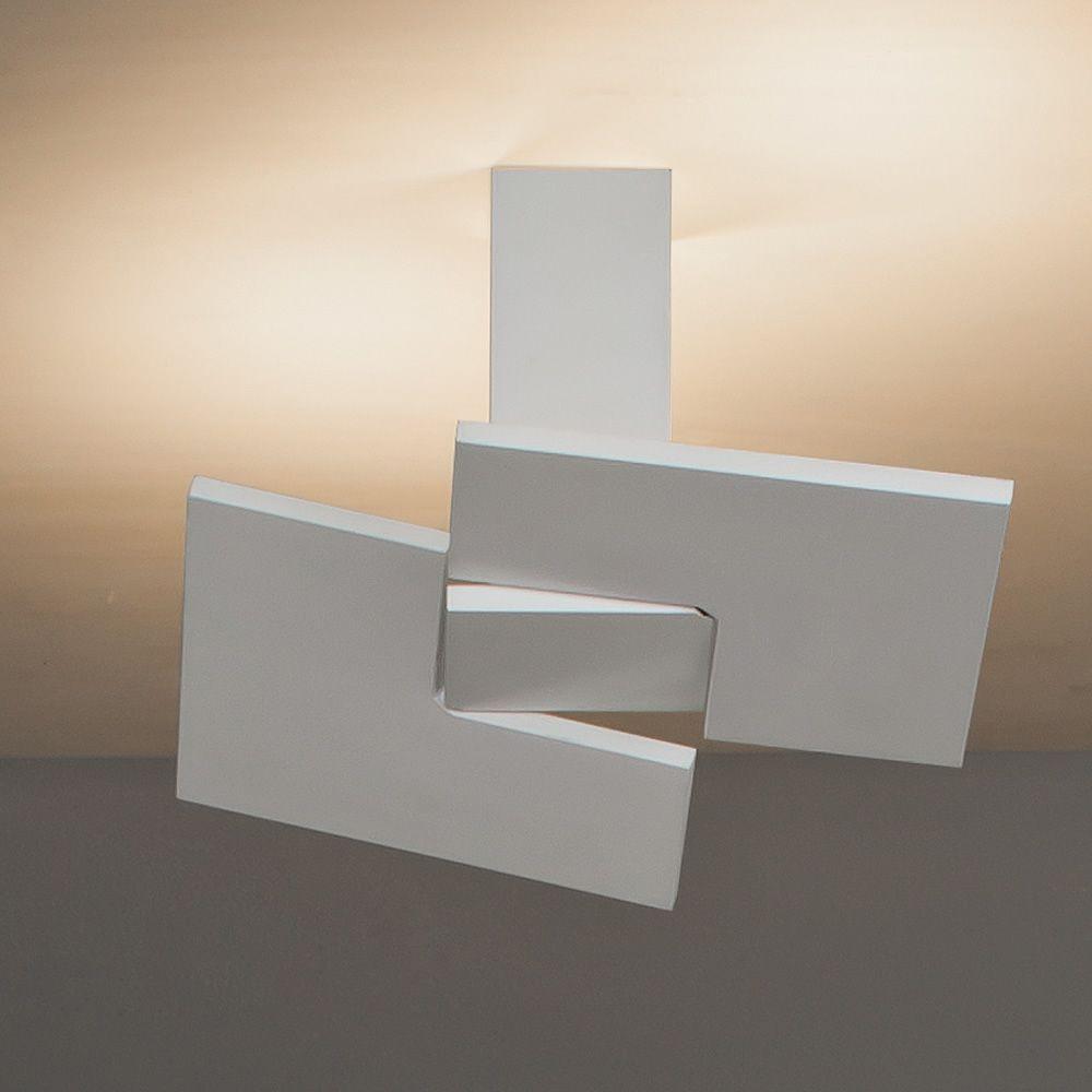 Puzzle twist c lampe design de plafond orientable en m tal led sediar - Lampe plafond design ...