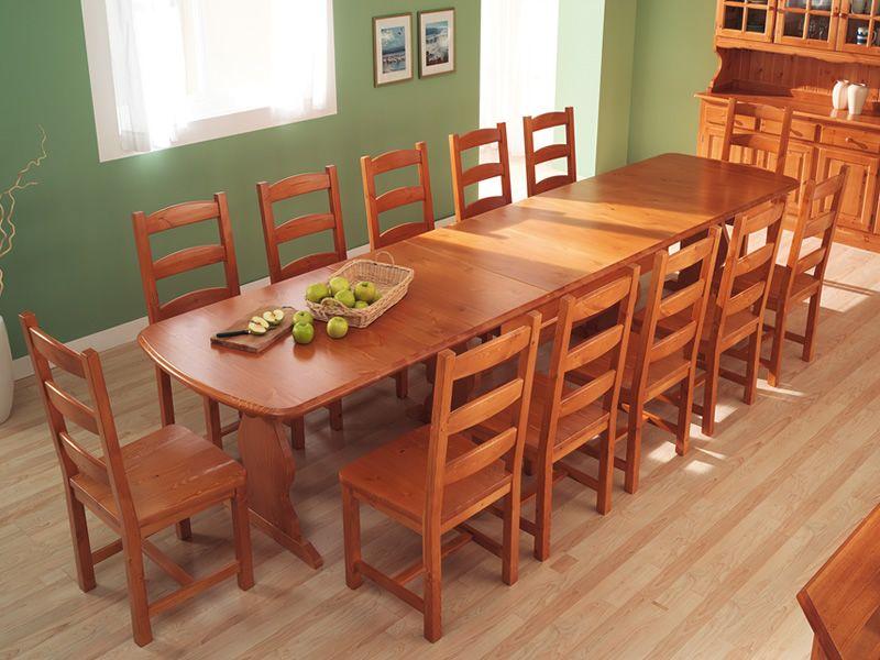 Av700 tavolo in pino multiposto 190 x 90 cm for Tavoli allungabili con sedie