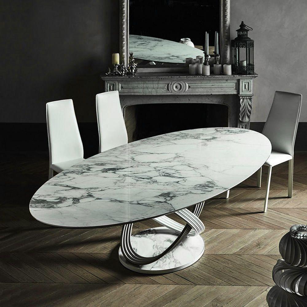 Fusion l tavolo di design di bontempi casa in metallo for Tavolo di design in metallo