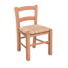 Baby 125 - Y - Country style chair for children, in wood with straw seat, several colors available