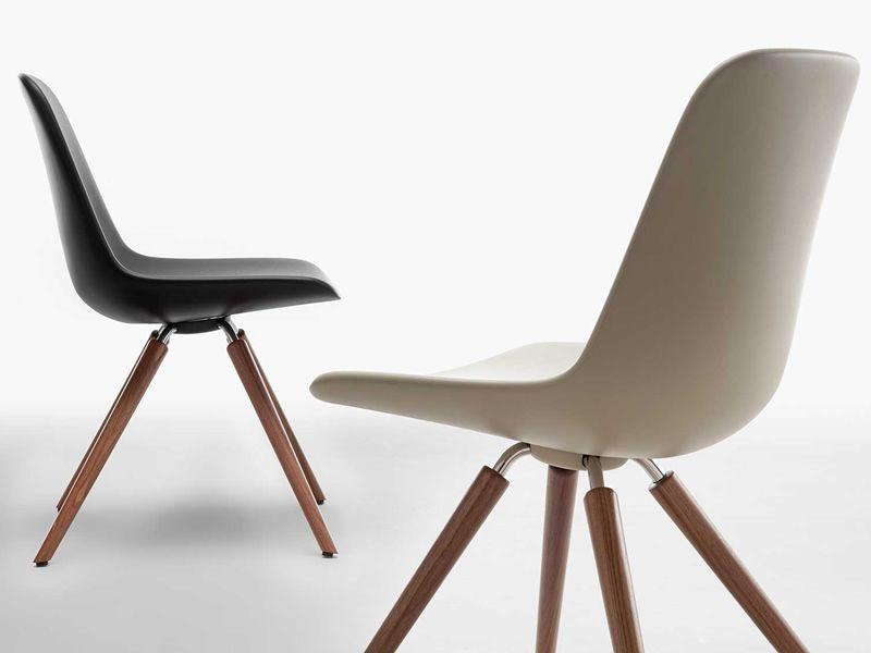 Step designer stuhl tonon aus holz und polyurethan in for Designer outlet stuhle