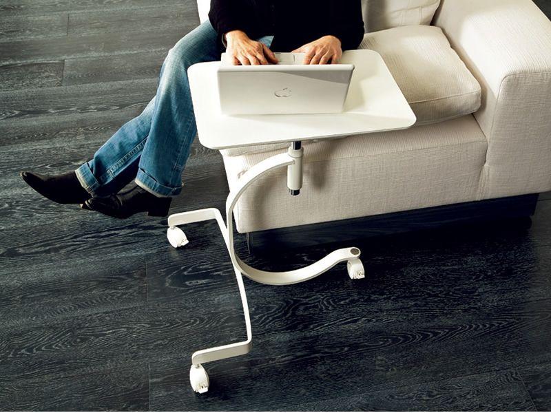 media computertisch domitalia mit ablagef chern auf rollen sediarreda. Black Bedroom Furniture Sets. Home Design Ideas