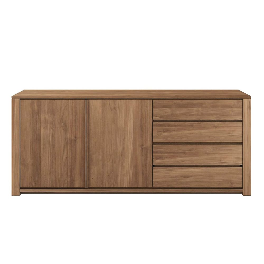 lodge buffet ethnicraft en bois avec portes et tiroirs. Black Bedroom Furniture Sets. Home Design Ideas
