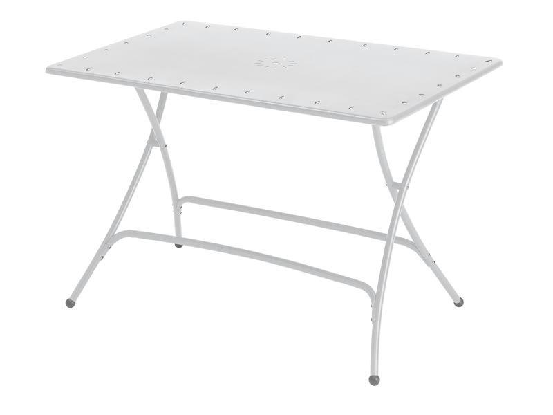 sc274 pieghevole klappbarer gartentisch aus metall 120x80cm verschiedene farben sediarreda. Black Bedroom Furniture Sets. Home Design Ideas