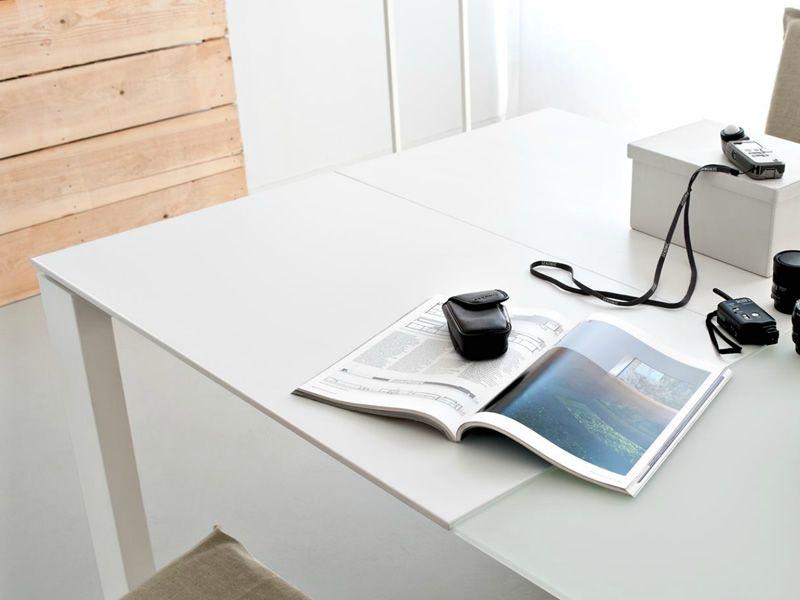 Cs4058 xxlv omniaxxl tavolo calligaris in legno piano for Tavolo vetro bianco calligaris