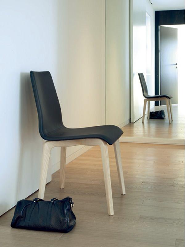 Jude l sedia domitalia in legno seduta imbottita con for Sedia academy w