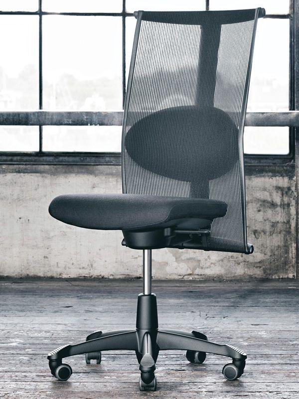 H09 ® Meeting In - Sedia ufficio ergonomica HÅG, con cuscino per il supporto lombare - Sediarreda