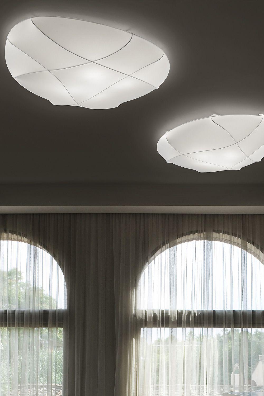 millo designer dach oder wandlampe aus metall un stoff in verschiedenen gr en verf gbar. Black Bedroom Furniture Sets. Home Design Ideas