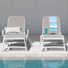 Atlantico - Sun lounger made of polypropylene, reclining backrest, stackable, available in several colours