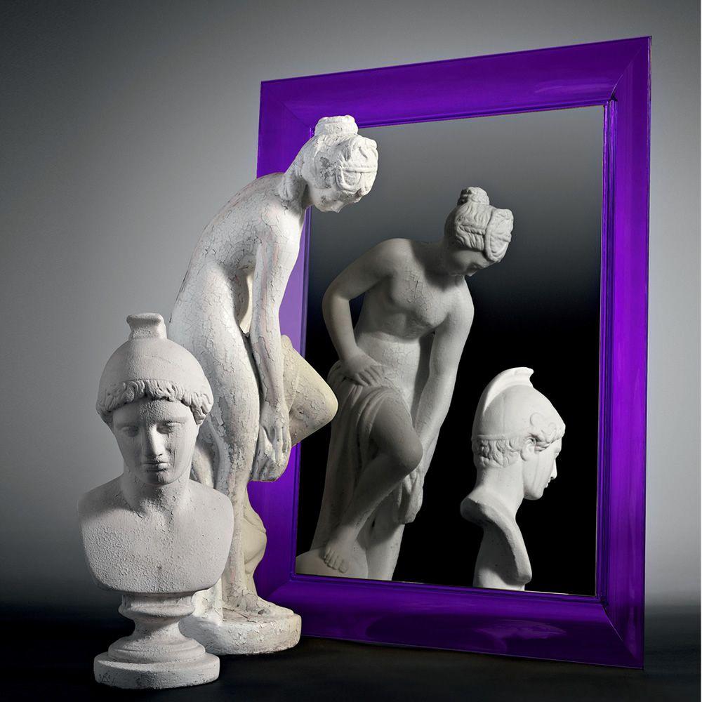 Fran ois ghost miroir kartell de design avec cadre en for Miroir kartell starck