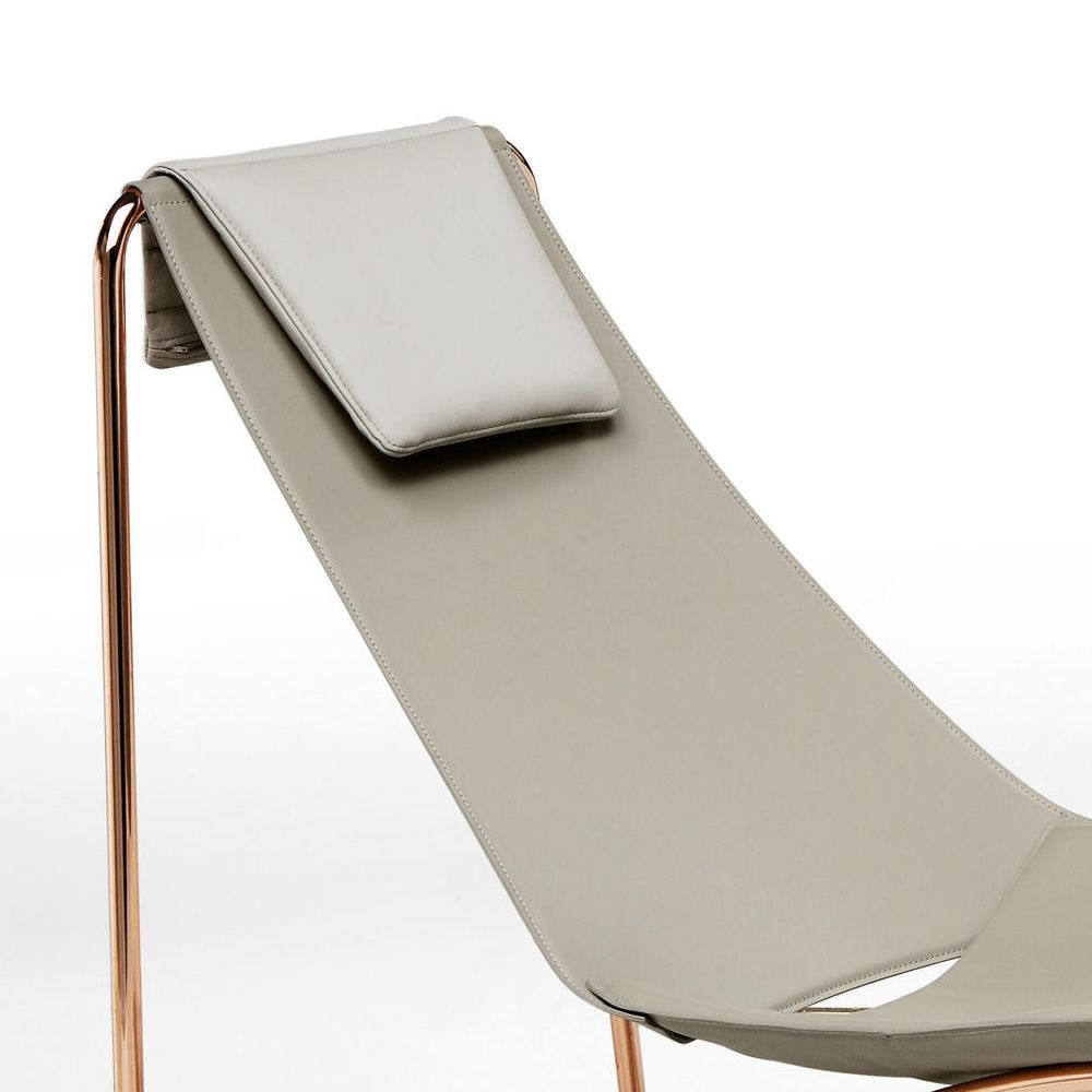 Apelle cl midj metal chaise longue seat covered with for Chaise longue aluminium et textilene
