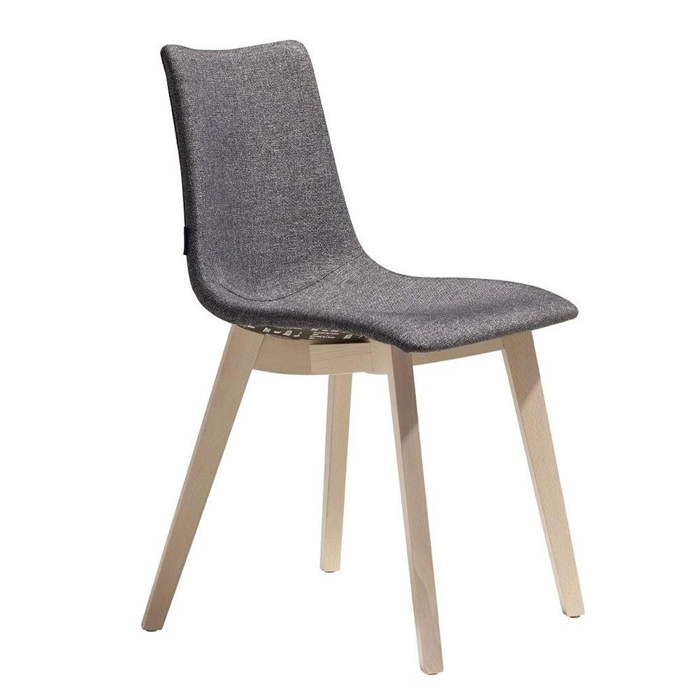 Natural zebra pop 2806 chaise moderne en bois avec assise for Chaise bois gris