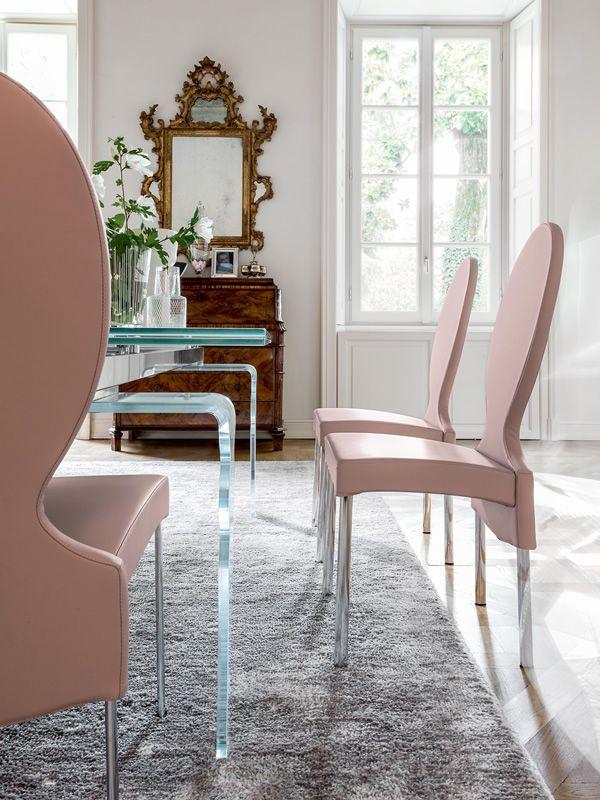 vivienne 7258 stuhl tonin casa aus metall mit bezug aus leder stoff oder kunstleder in. Black Bedroom Furniture Sets. Home Design Ideas