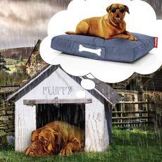 Doggielounge Large - Cuscino per cane Fatboy, sfoderabile, con nome personalizzabile, diversi rivestimenti e colori disponibili, taglia grande