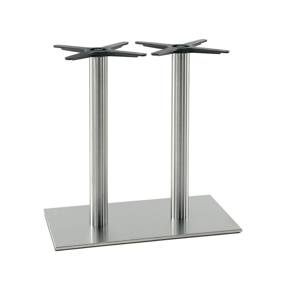 inox 4460 pour bars et restaurants pi tement de table deux colonnes pour bar ou restaurant. Black Bedroom Furniture Sets. Home Design Ideas