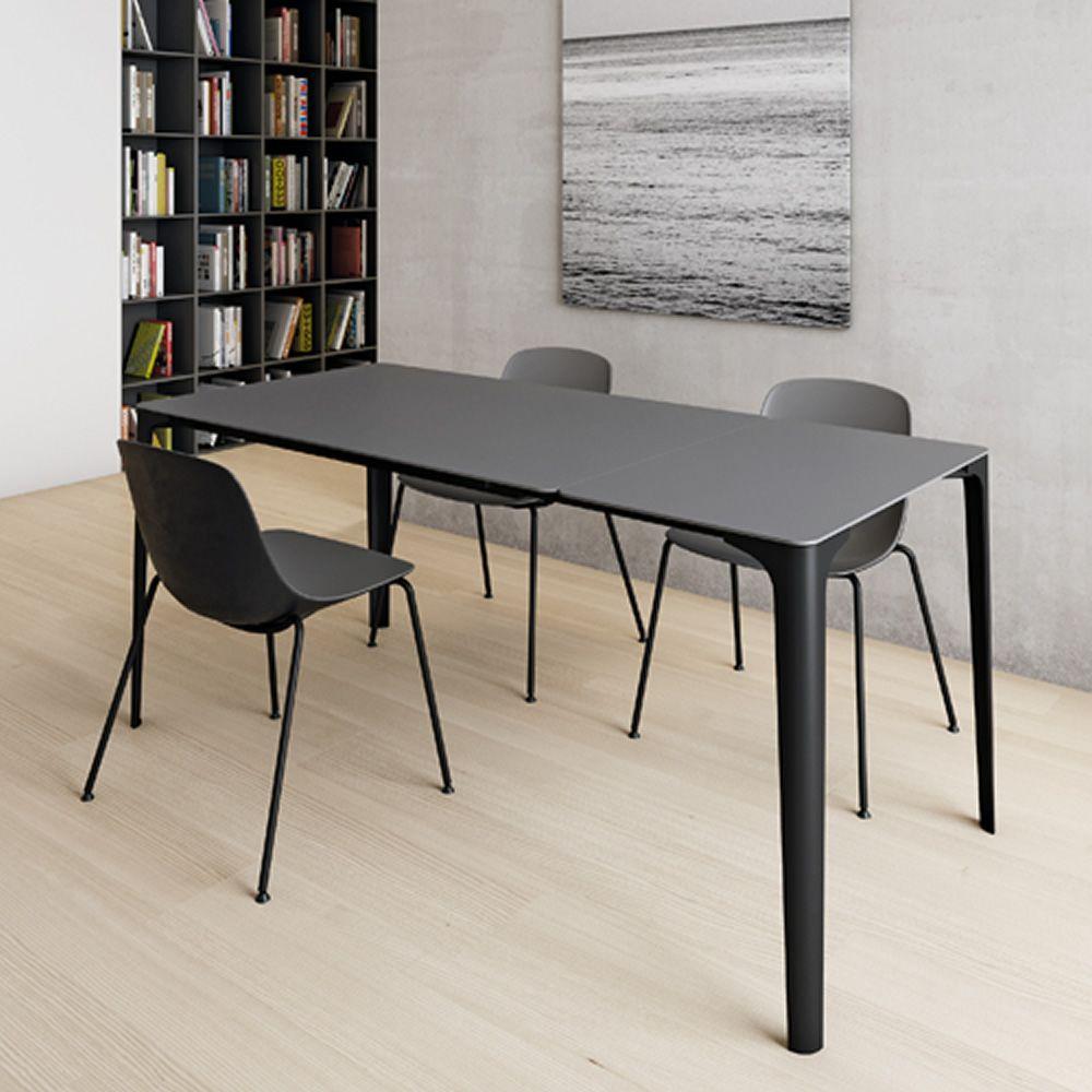 Mat tavolo allungabile infiniti in alluminio piano in for Tavolo in alluminio