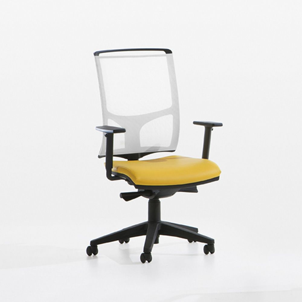 High office chair - Zed High Office Chair With Black Nylon Base White Mesh Backrest