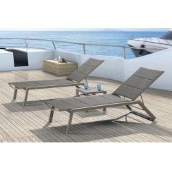 Tt924 lux lettino prendisole in alluminio seduta e schienale imbottiti in textilene e schiuma - Lettino piscina alluminio ...