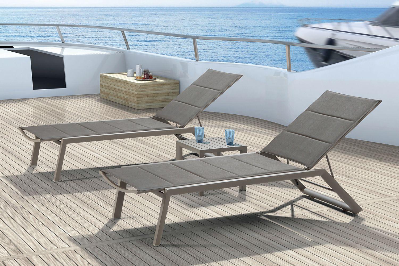 tt924 lux bain de soleil en aluminium assise et dossier. Black Bedroom Furniture Sets. Home Design Ideas