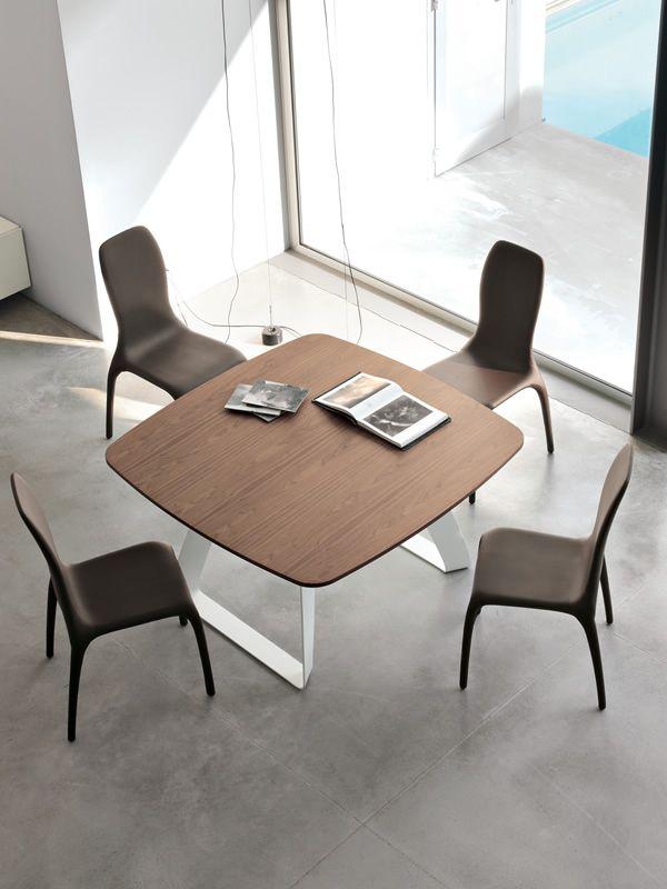 Brenta 8057   tavolo fisso tonin casa in metallo, piano in legno ...