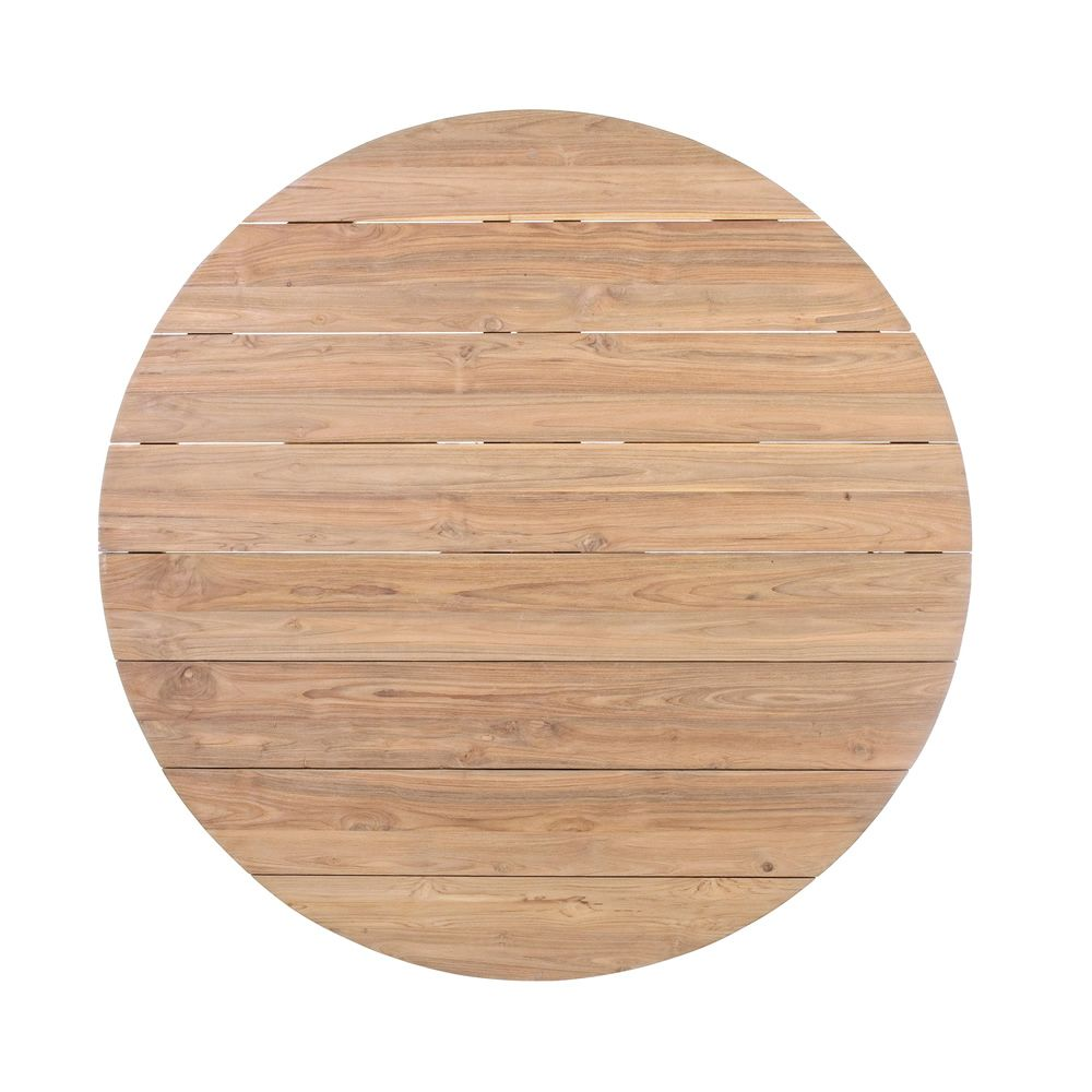 Canyon table en teck avec plateau rond 135 cm diam tre id ale pour l 39 ext rieur sediarreda - Plateau rond pour table castorama ...