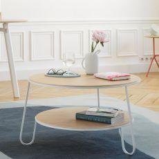 Eugénie - Tavolino in metallo e legno
