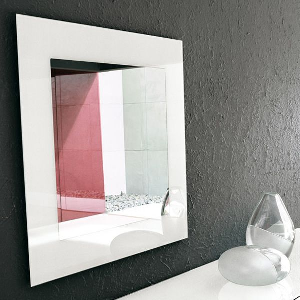 Toshima 5032 specchio quadrato di tonin casa 80x80 cm - Specchio cornice bianca ...