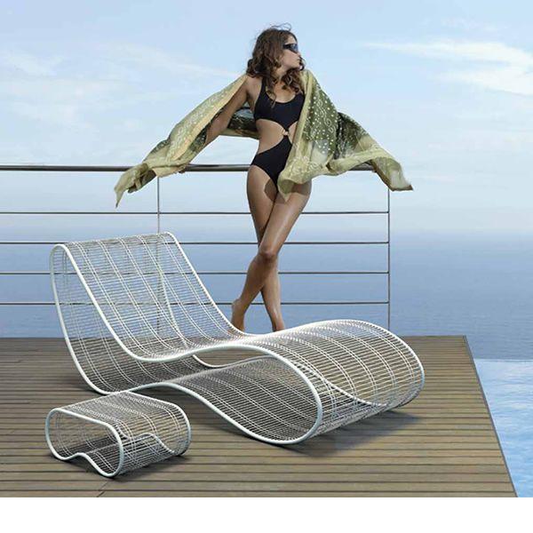 breez l design sonnenliege aus metall f r au enbereich sediarreda. Black Bedroom Furniture Sets. Home Design Ideas