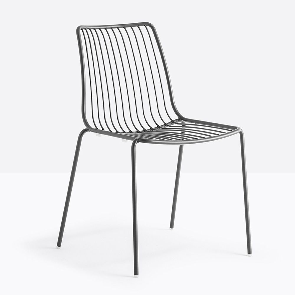 outdoor metal chair. Nolita - Garden Metal Chair, Anthracite Grey Colour, With High Backrest Outdoor Chair