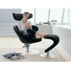 Peel™ - Poltrona design ergonomica con poggiapiedi Peel™, disponibile in diversi colori
