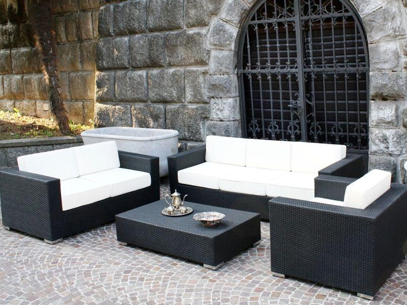 Kit esterno 11 set per giardino in alluminio e simil for Divani da terrazzo
