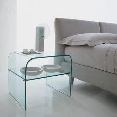 Anemone 6829 - Tavolino da salotto - comodino Tonin Casa in vetro, diverse finiture disponibili