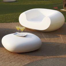 Chubby Low - Pouf Slide aus Polyethylen, verschiedene vorrätige Farben, auch für den Garten