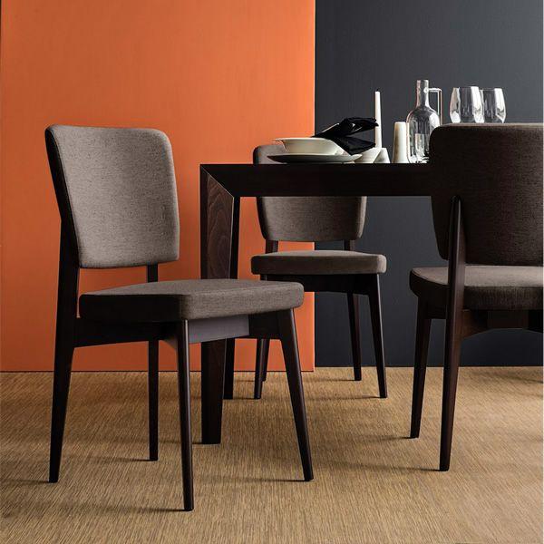 cb1526 escudo pour bars et restaurants chaise en bois avec assise rembourr e et recouvert en. Black Bedroom Furniture Sets. Home Design Ideas