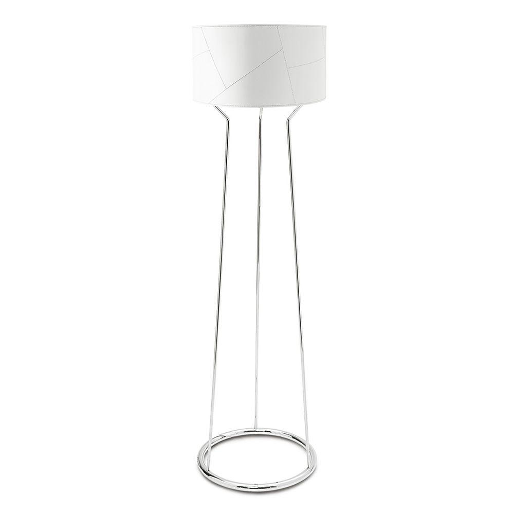 Cs8012 f lynx lampe de sol calligaris en m tal et cuir - Abat jour pour lampe de sol ...