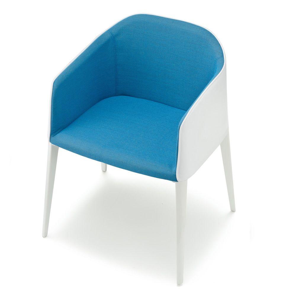 Laja 885 fauteuil pedrali moderne en aluminium rev tu for Chaise tissu couleur