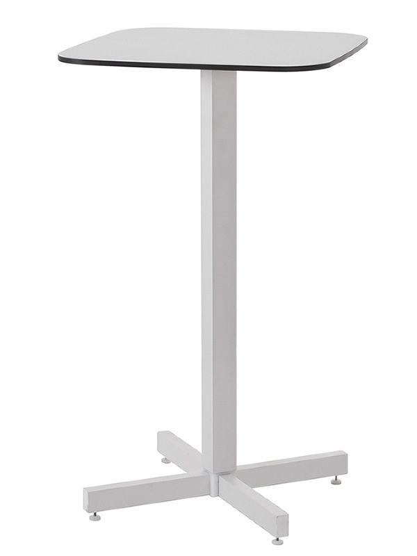 shine h f r bars und restaurants hoher tisch aus aluminium mit viereckige tischplatte 60x60 cm. Black Bedroom Furniture Sets. Home Design Ideas