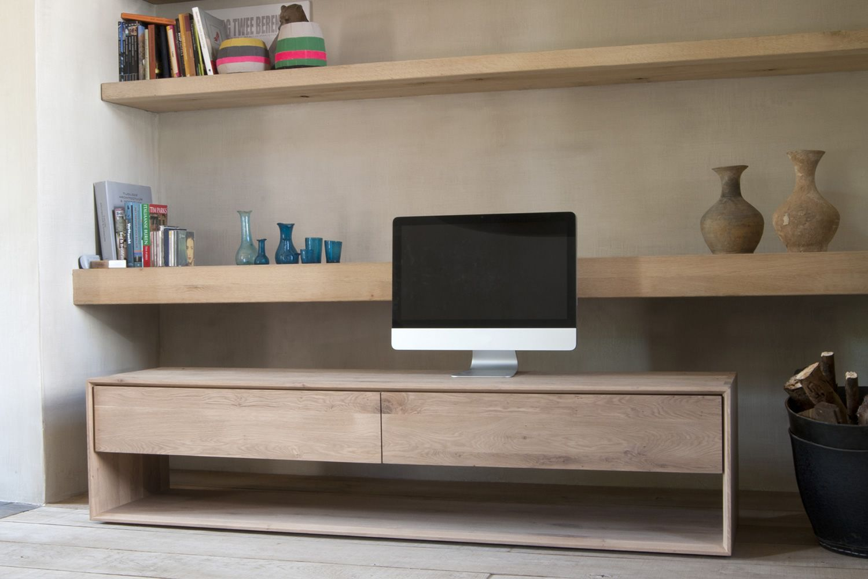 nordic tv meuble tv ethnicraft en bois disponible en. Black Bedroom Furniture Sets. Home Design Ideas