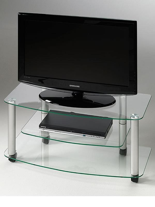 millenium tv tisch aus lackiertem metall mit ablageb den aus glas sediarreda. Black Bedroom Furniture Sets. Home Design Ideas