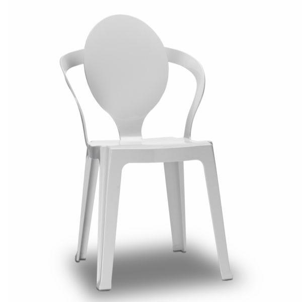 Spoon 2332 per bar e ristoranti sedia bar in for Sedia design bianca