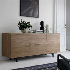 Amsterdam 15.19 - Contemporary sideboard Bontempi Casa, in wood, with doors and drawers, available in various finishes and sizes