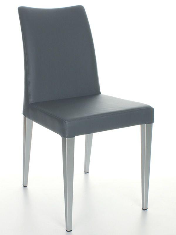 Matrix moderner stuhl midj aus metall sitz mit for Kunstleder stuhl grau