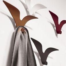 Jonathan - Appendiabiti da parete in acciaio verniciato, disponibile in diversi colori