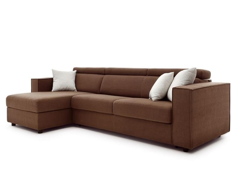 Venus divano letto a 2 o 3 posti xl con chaise longue contenitore poggiatesta reclinabile - Divano letto con chaise longue ...