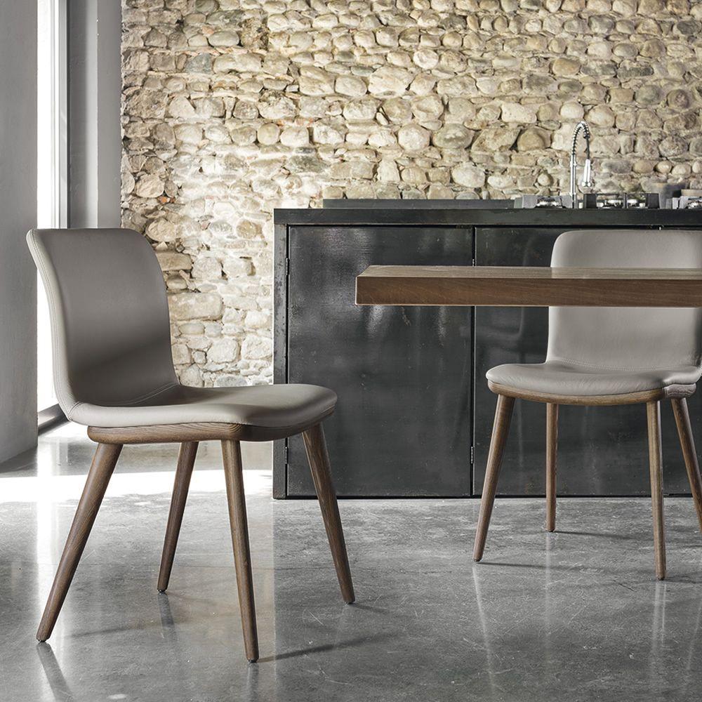 Cs1809 annie per bar e ristoranti sedia per bar in legno for Sedie in similpelle