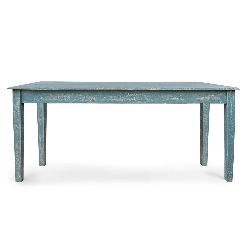 Costanzo - Tavolo shabby chic, in legno, fisso 180x90 cm - Sediarreda